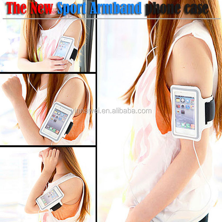 Waterproof soft neoprene sports armband for iphone 4 4s 5 5s 5c 6 plus