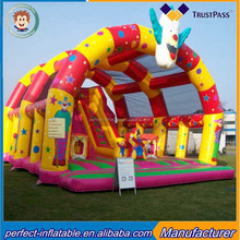 Popular style inflatable jumping bed inflatable castle slide fun city inflatable for rental