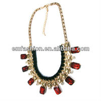 Fashion handmade statement necklace bubble necklace fake diamond necklace