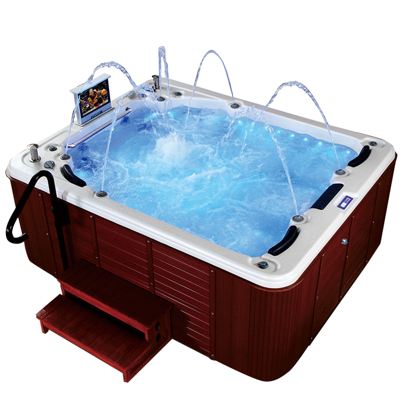 Spa-013 Whirlpool Massage 5 Person Outdoor Spas Hot Tubs With Tv ...