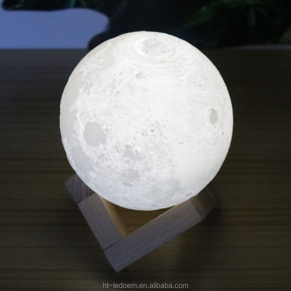 3D Remote Control Moon Lamp Indoor Lighting LED Night Lights