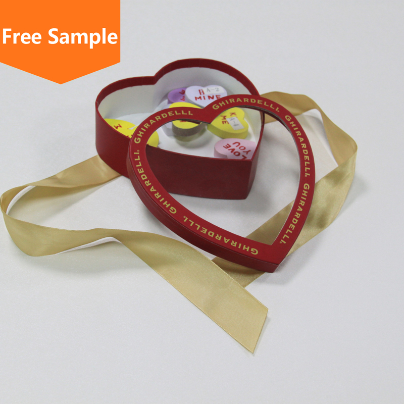 Paper Printing heart shape elegant wedding candy gift boxes wholesale