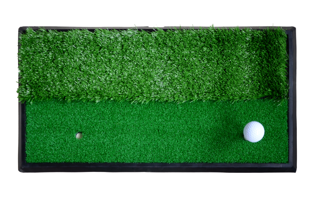how to make a golf hitting mat