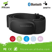 Fitcare high accuracy dual mode wireless bluetooth 4.0 and ANT+ heart rate belt for iphone &android