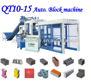 Famous cement block making machine in QT10-15 automatic cement block making machines making factory