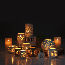 New Fashion OEM ceramic candle holders for home decoration
