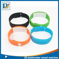Sports 3D silicone bracelet pedometer calorie counter smart watch