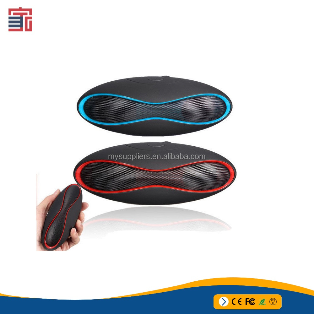 Pure sound round portable wireless rugby football mini bluetooth speaker with package