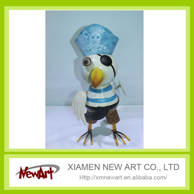 Metal stand up chicken with hat home decoration arabic