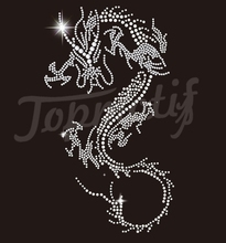 Bling Chinese Dragon Rhinestone Transfer Designs for Garment