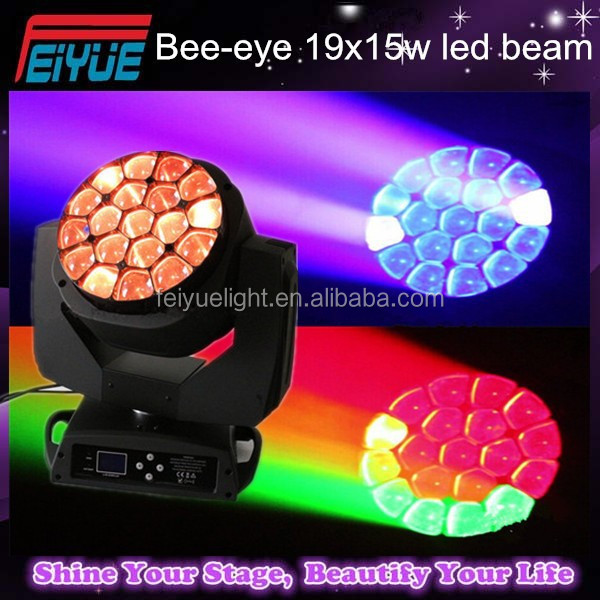 Club Light prolight zoom sharp eye, 19*15W 4in1 clay paky bee eye, stage equipment beam BEE eye led moving Head