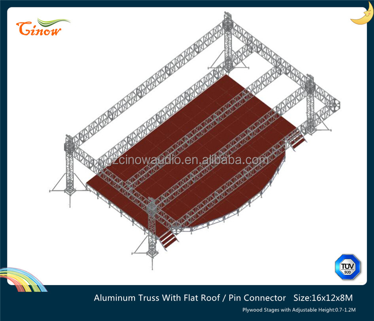 16x12x8M,Spigot Aluminum Truss,300x300mm,400x400mm,Lighting Truss LED Screen Lift Truss