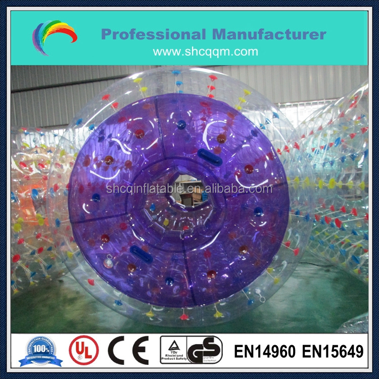 TPU 1.0mm inflatable hamster ball for kids,inflatable water ball water roller