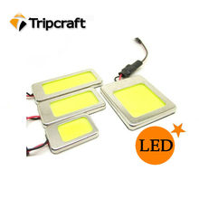 White 6W COB Chip LED Car Interior Light T10 Festoon Dome Adapter 12/24V, Car Vehicle LED Panel