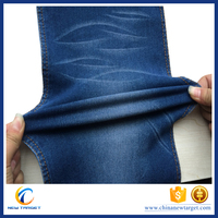 Hot selling satin stretch denim fabric