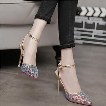 LM3389Q summer high heel sandals fashion pointed single shoes women