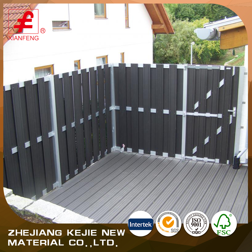 lower price outdoor wpc garden fence panel for sale