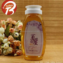 350ml 500g honey candy dress shape oval plastic bottle