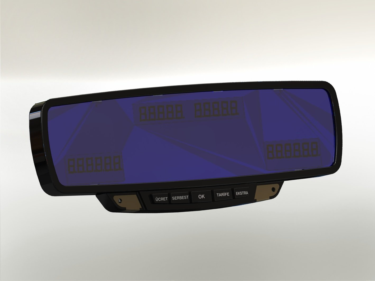 Mirror Taximeter with printer
