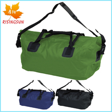 Wholesale outdoor waterproof dry bag duffel with fold up closure PVC Tarpaulin 50L multiple colors water bag with strap