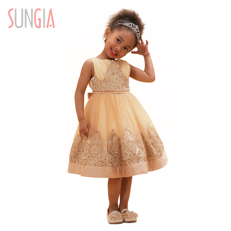Fancy girl's princess dress for show party or wedding