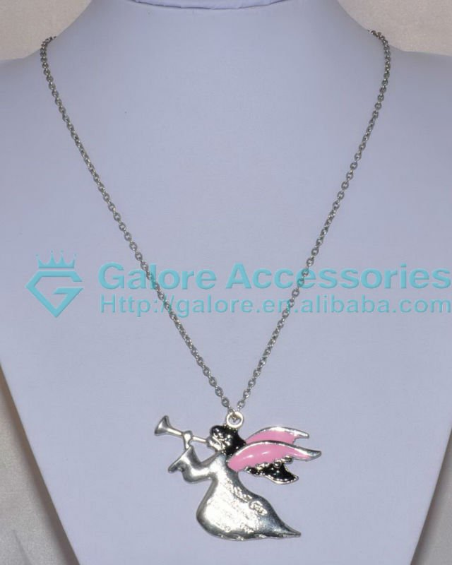 gold angel grils engraved pendant necklace cheap price