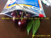 Factory price transparent pp plastic bag zipper for fresh fruits and vegetable/dried fruit packing