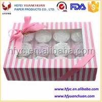 customized mini fashion paper box 100% quality box for cupcake