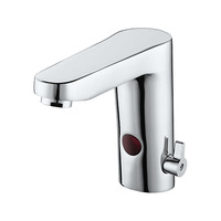 Hygienic Brass integrated automatic bathroom sink faucet hot cold mixer tap