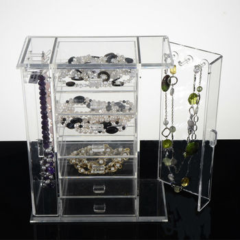 Wholesale plastic drawers travel jewelry and cosmetics organizer
