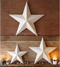 Christmas decorative hanging metal star wall decor