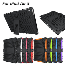 Heavy Duty Tough Shockproof Hybrid Outdoor Case with Stand for Apple iPad Air 3