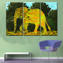 Indian style abstract colorful elephant for home decor