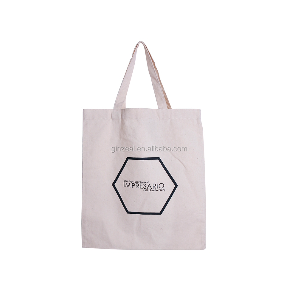 Wholesale promotional custom printed natural cotton canvas shopping bag manufacturer