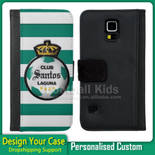 2016 Hot Custom Printed Leather Flip Cell Phone Case Cover for Samsung galaxy S4 S5 No MOQ