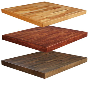 cheap resin laminate beech outdoor restaurant solid wooden wooden table top