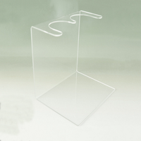 Simple Style Double Place Clear Acrylic Boot Stand for shop display