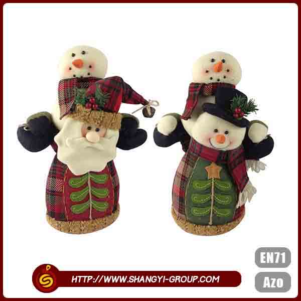 High quality customized eco-friendly polyester felt Christmas ornaments in bulk