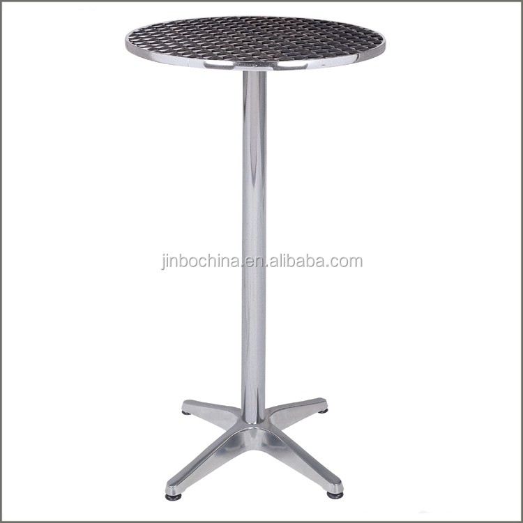 Wholesale high round metal bar table