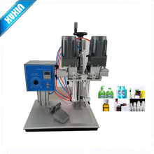 Semi-automatic Desktop screw capping machine, locking capper, hand button spray gun lock lid X-6100
