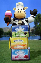Advertising Inflatables/custom shapes/15' Foster Farms Cow & Ice Cream Boxes Inflatable Promotions