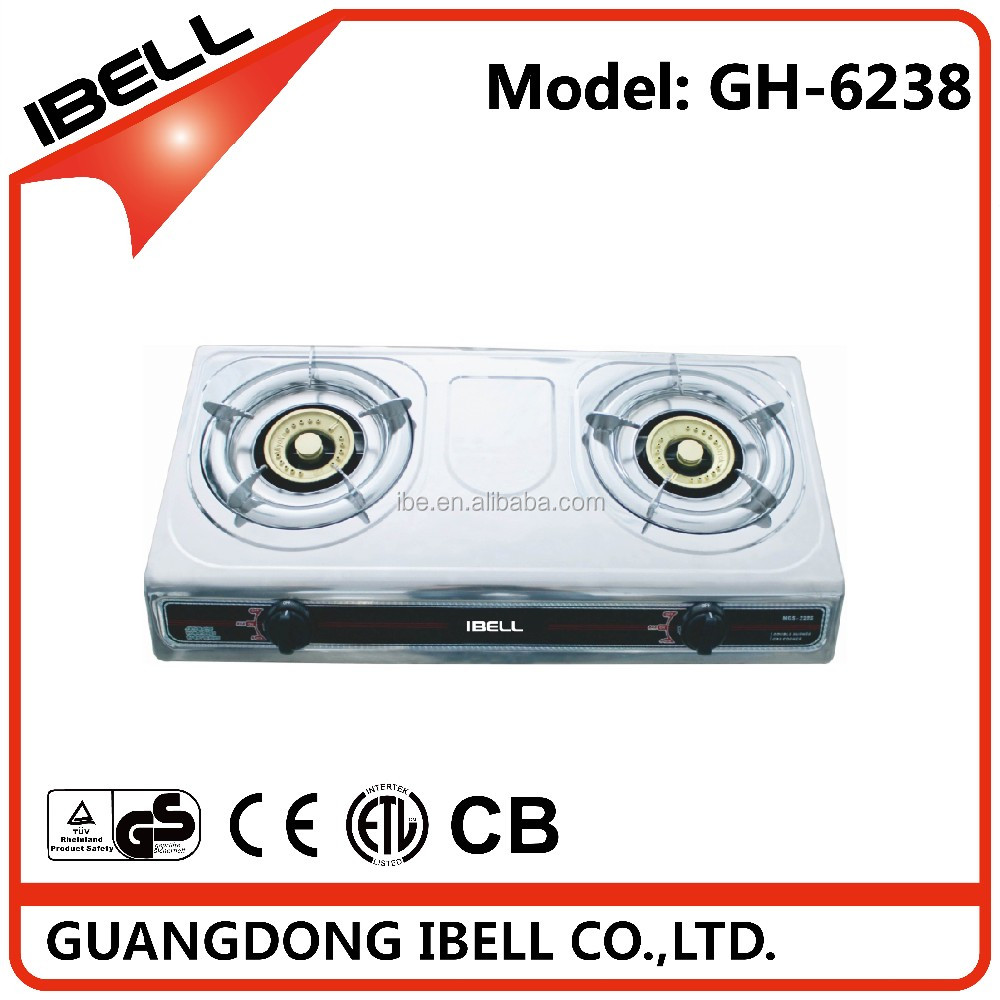 2017 hot selling 2 burner gas stove with lowest price