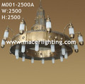 Handmade Mosque large brass chandelier