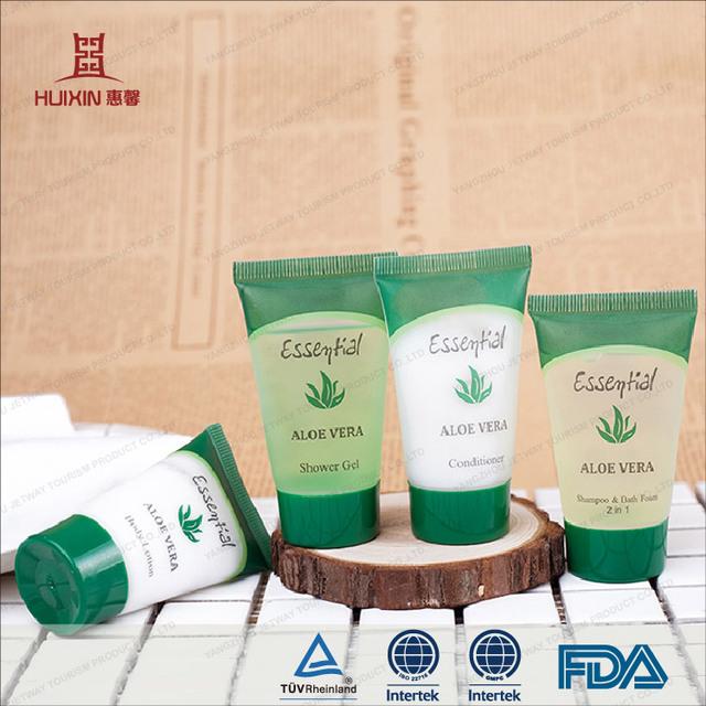 JET-TU-010 Biodegradable 50ml aloe smell hotel shampoo tube