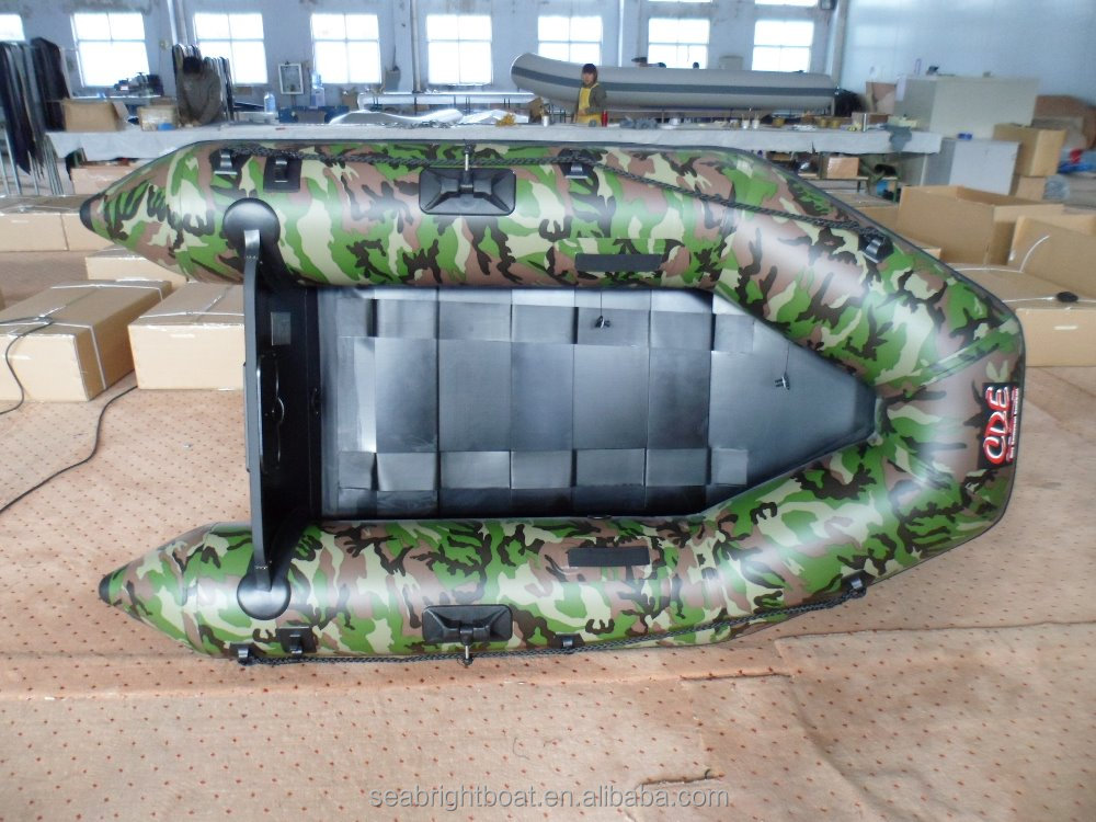 camouflage folding inflatable pvc boats