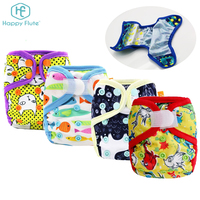 Happy flute high quality waterproof cover new prints baby cloth diaper cover