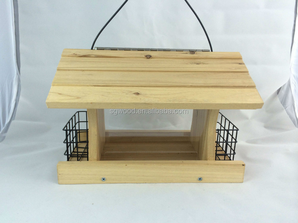 FSC make bamboo bird feeder for decoration