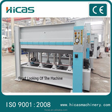 Laminate hot press machine with durable cylinder