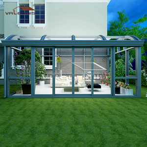 hot sale aluminum polycarbonate lowes sunrooms solarium /glass greenhouse