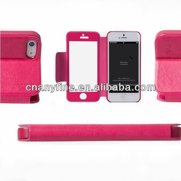full touch screen leather case for iphone 5&5S, new arrival!